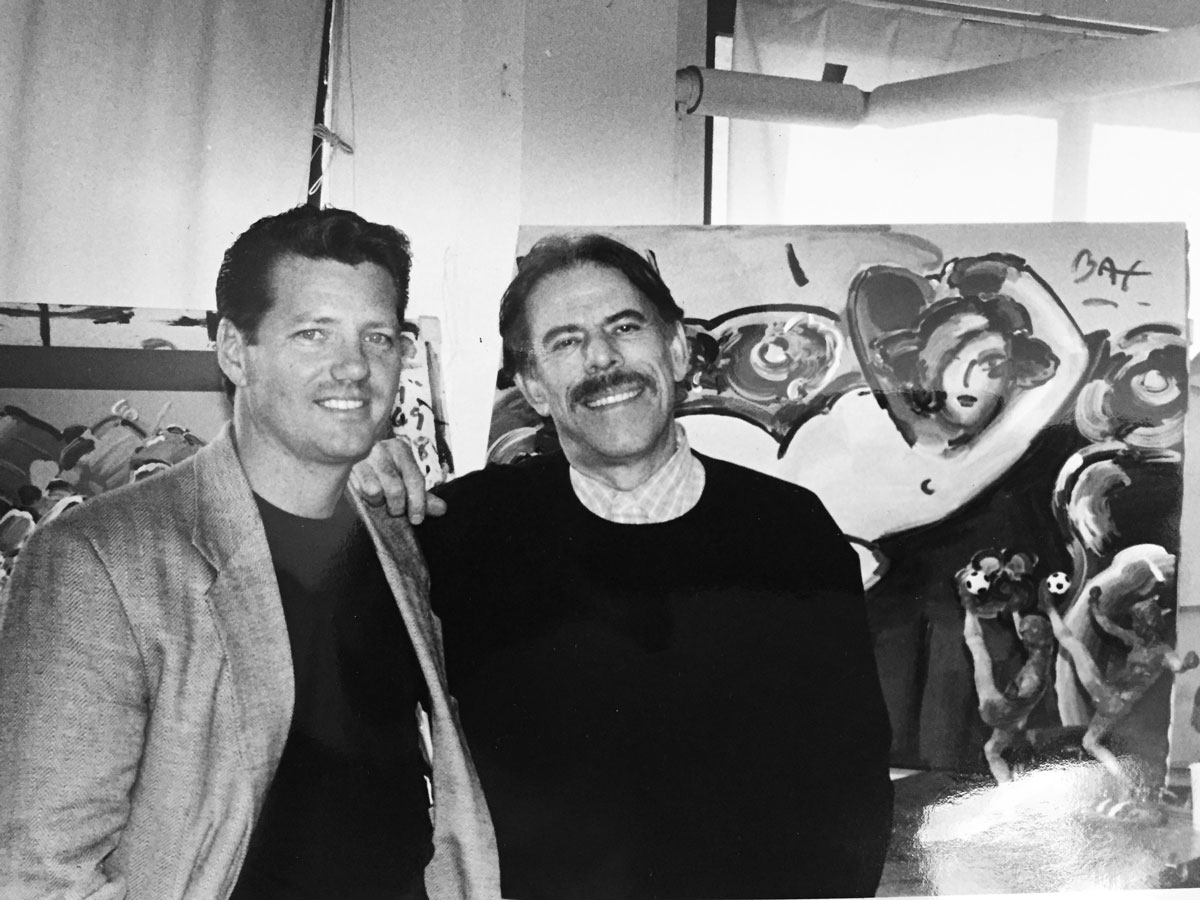 Peter Max and myself in Peter's New York studio (1996).